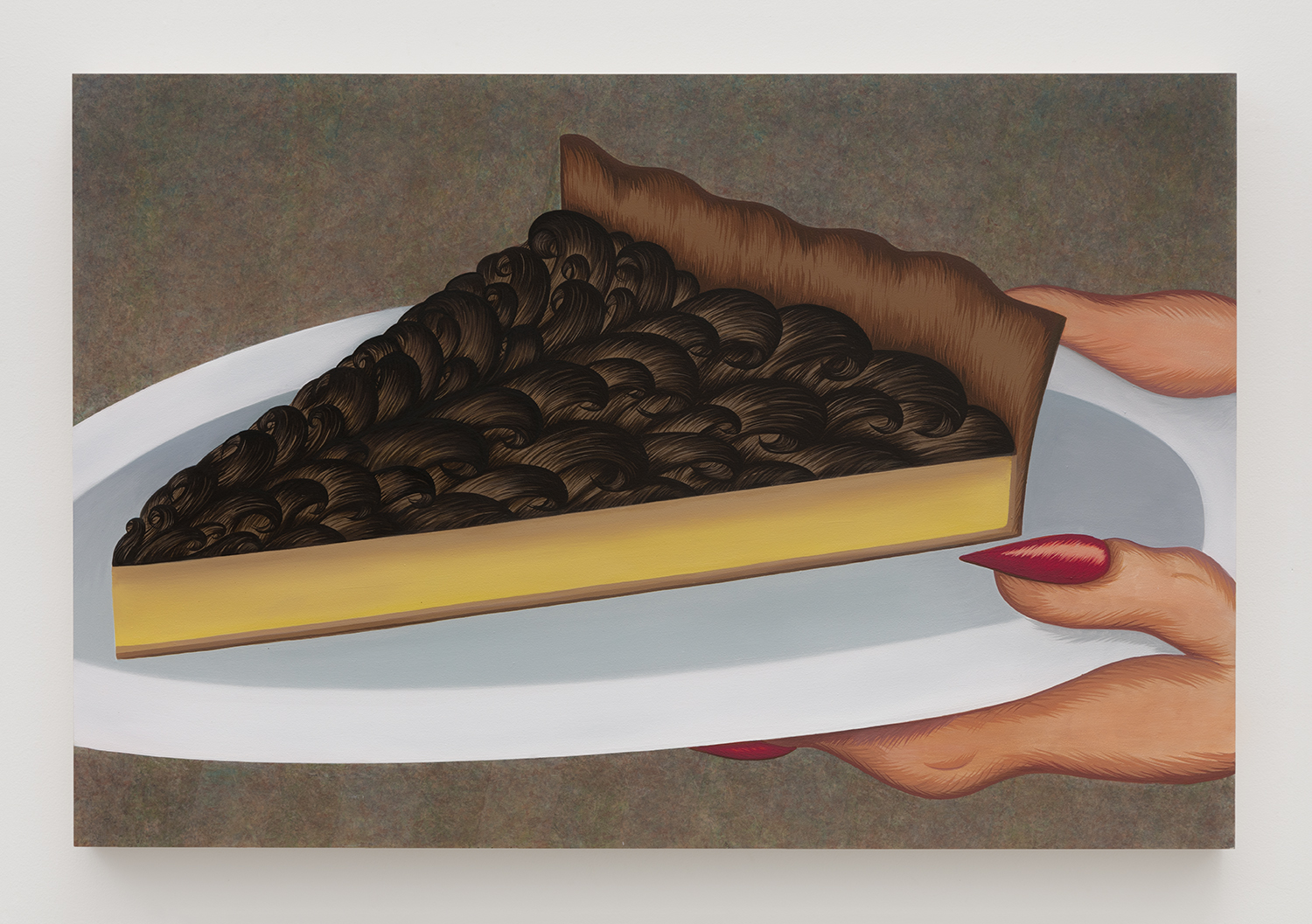 Another Piece of the Pie   Acrylic and oil on panel  24 inches x 36 inches  2017