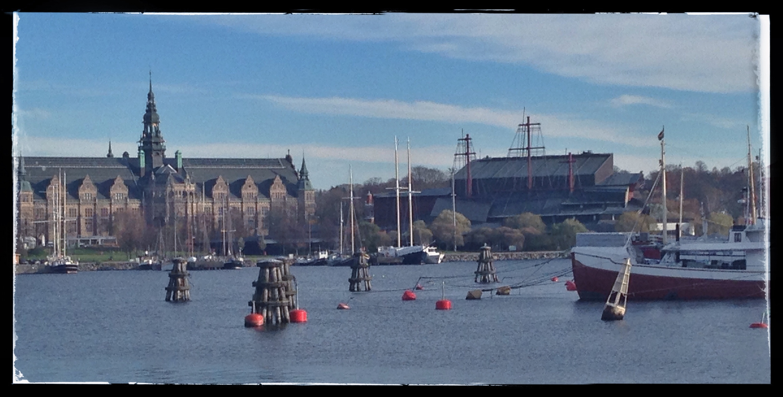 Vasa Museum on the right on the island of Djurgården in Stockholm © 2014 Design Story Works LLC
