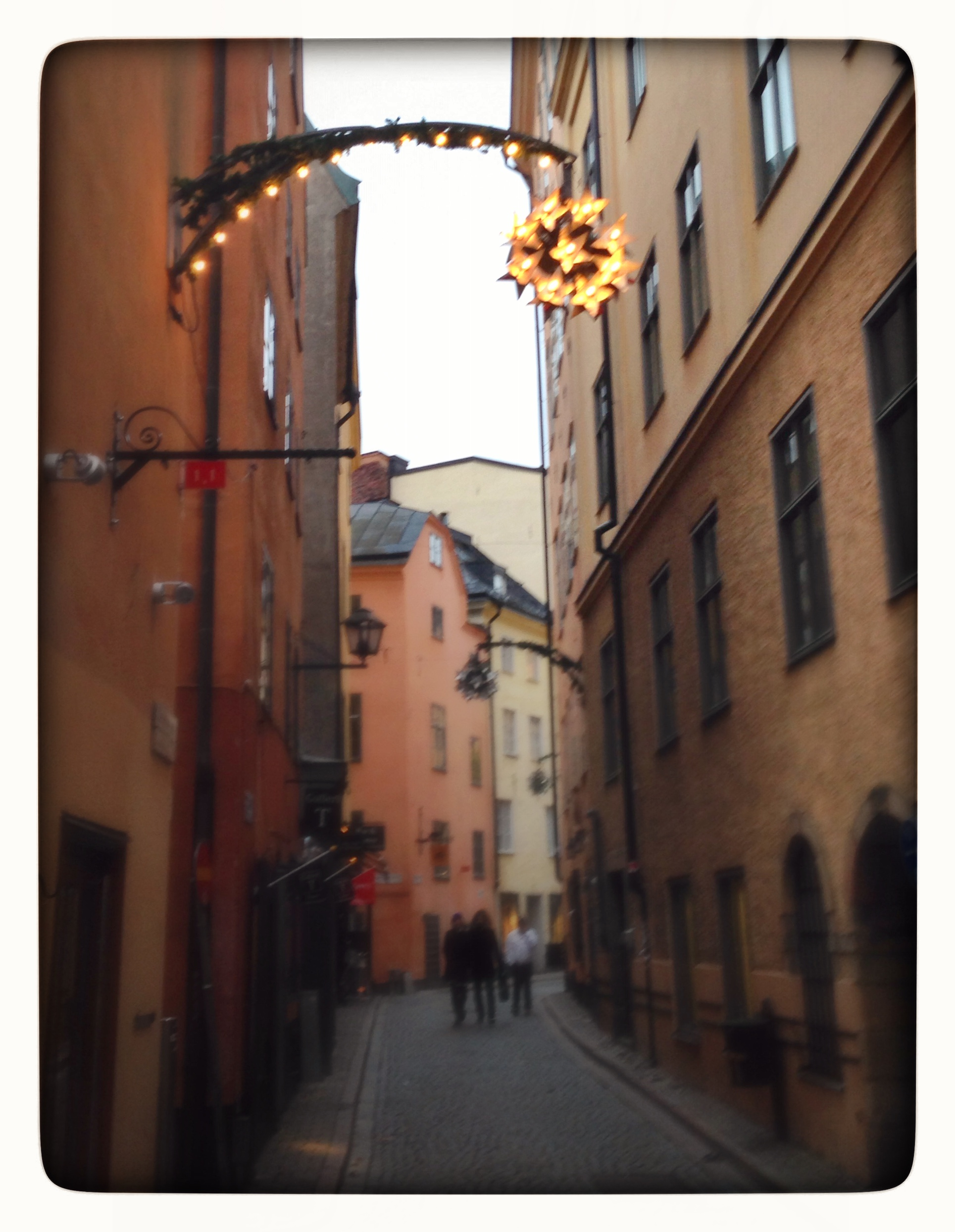A side street on Gamla Stan in Stockholm © 2014 Design Story Works LLC
