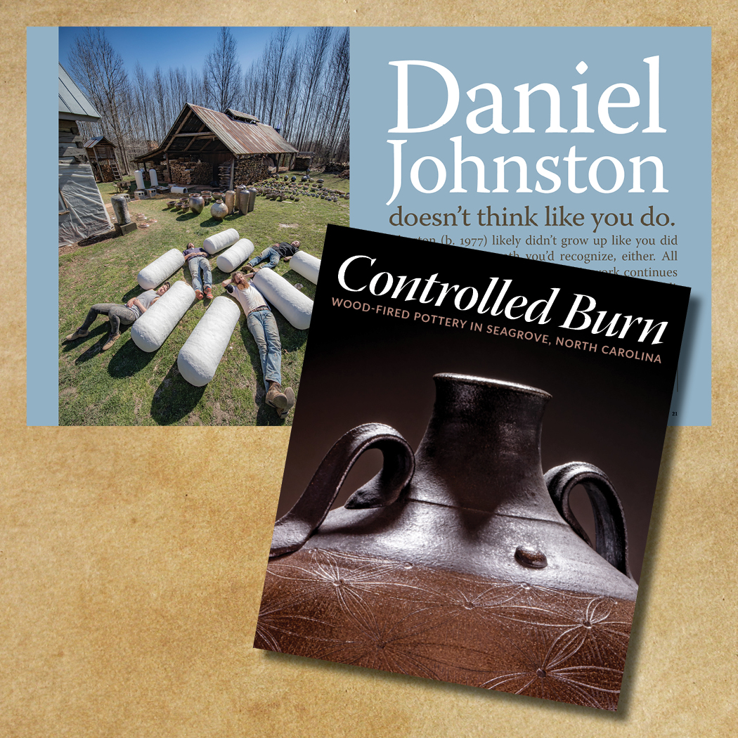Daniel Johnston (b. 1977) is beginning to consider large art explorations using his craft as home base. Look for his installation of over 30 monumental jars at STARworks during the WOODFIRE NC conference this June (2017).