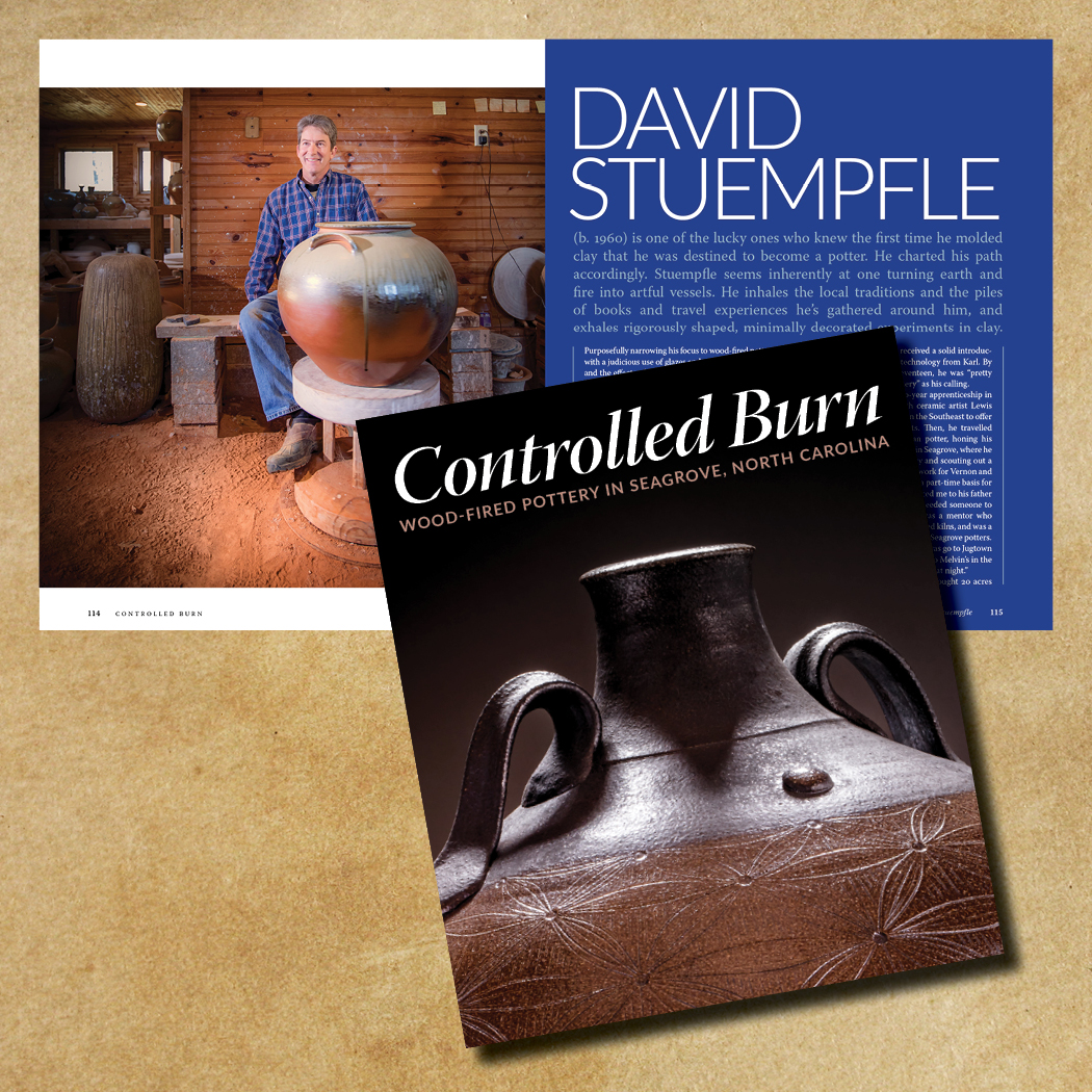 David Stuempfle (b. 1960) travelled the country as a journeyman potter. Now, he travels the world learning about ceramics, as a studio potter with Seagrove, North Carolina as his home base.