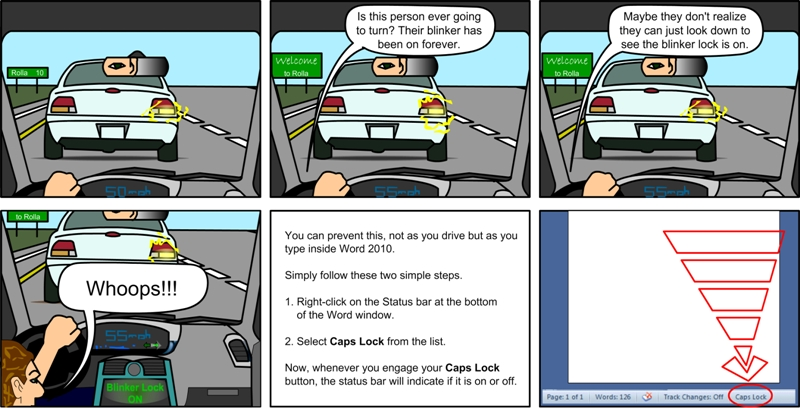 Learning Bursts Microsoft Word 2010 Cartoons