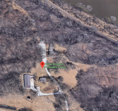 Camp Brewster - with the Missouri river on the top right.