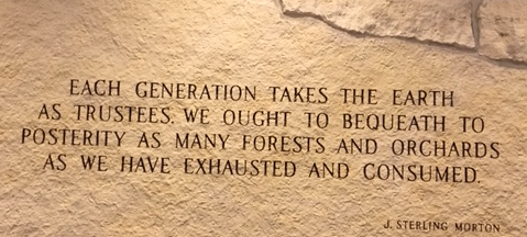 Earlier in the year, my husband attended a retreat hosted at the Arbor Lodge in Nebraska City. He found this quote there, it fits perfectly with creating a natural garden in a forest.