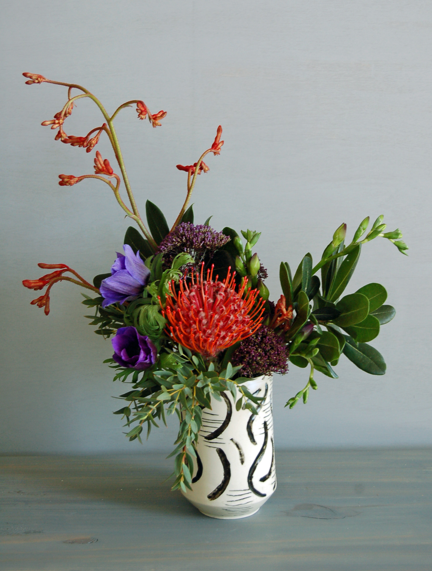 Pottery and flowers by Seattle's Bond in Bloom.jpg