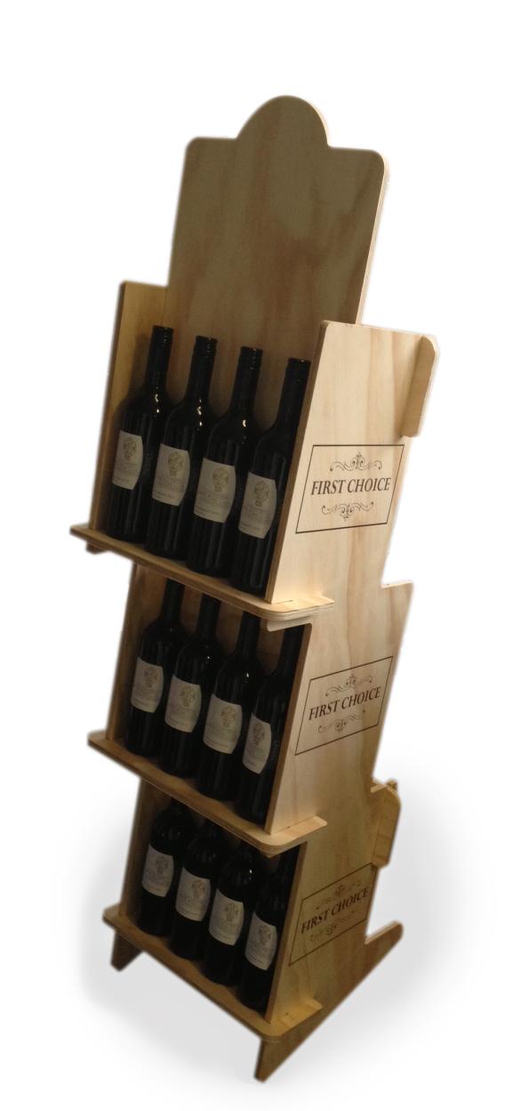 Wine stand - flatpack