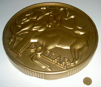 Moulded giant $1 coin