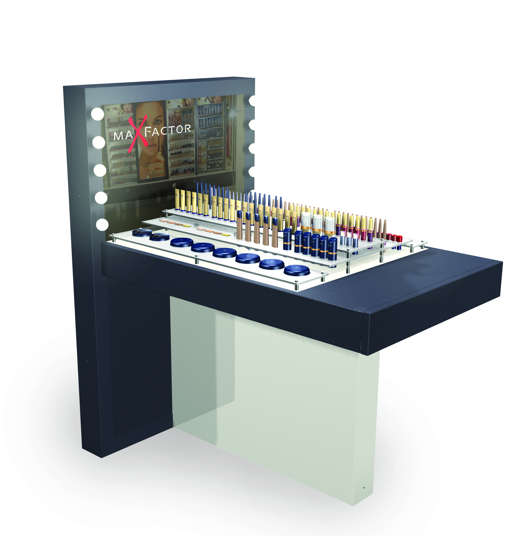 Maxfactor tester table