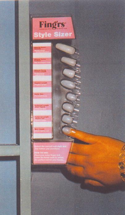Fingrs nails sizer