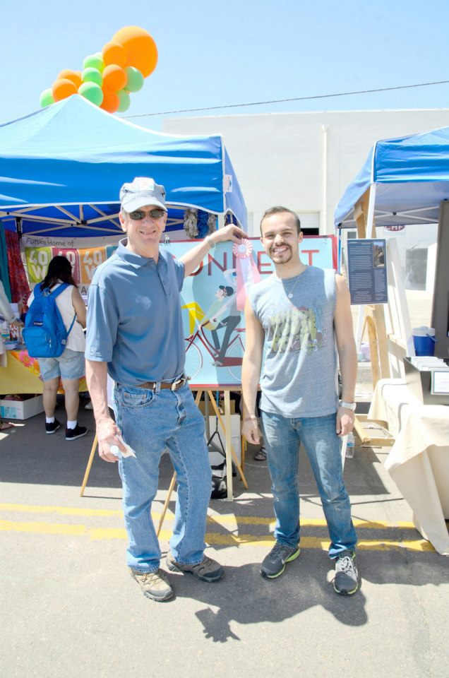 With Bob Murphy, Lakewood Mayor.