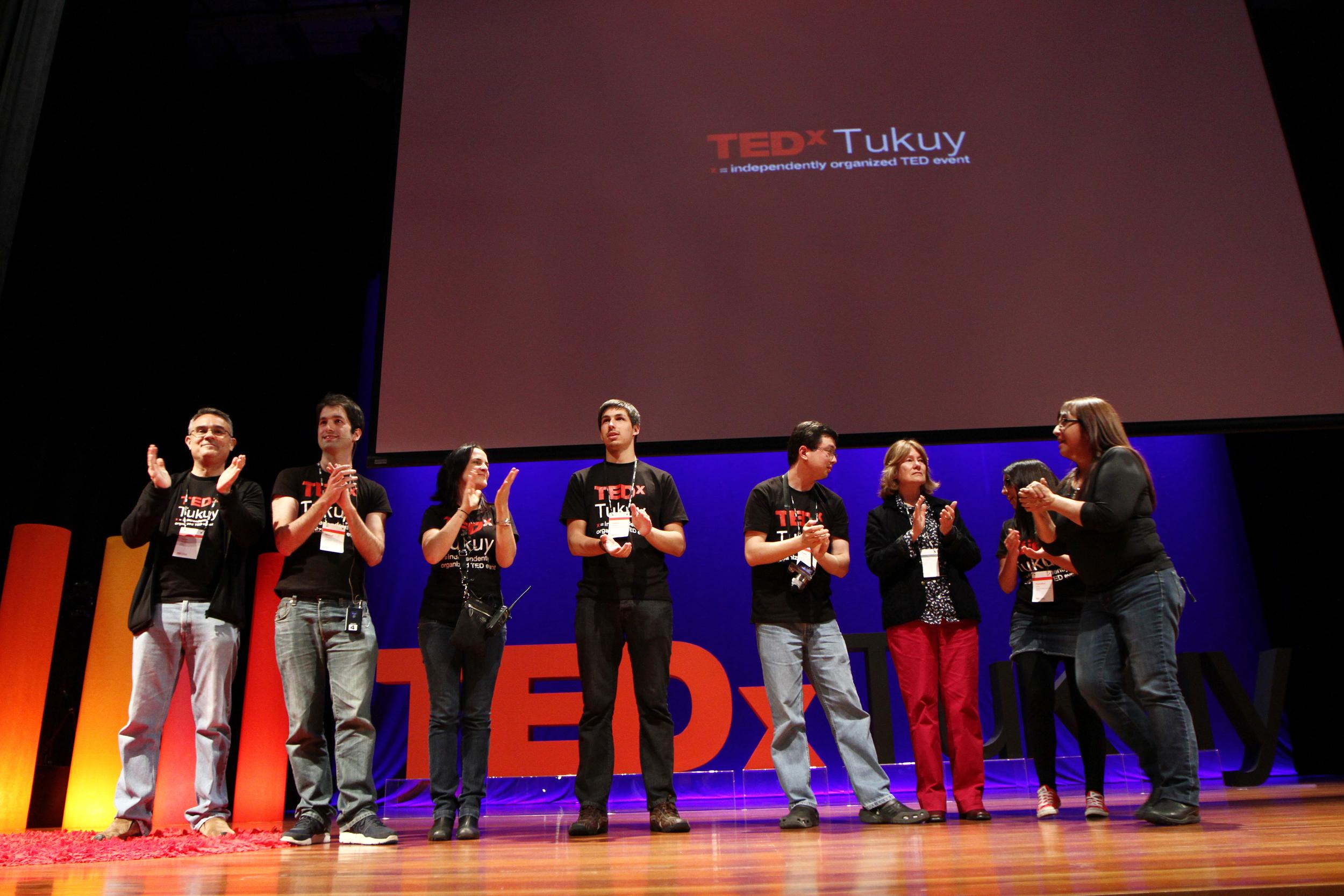 Parte del equipo en TEDxTukuy 2014