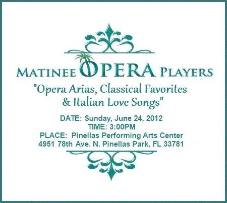 "Matinee Opera Players of Tampa Bay Concert Performance Promo - ""Opera Arias, Classical Favorites & Italian Love Songs"""
