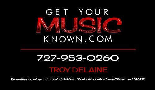 "Business card for local ""Get Your Music Known"" enterprise"