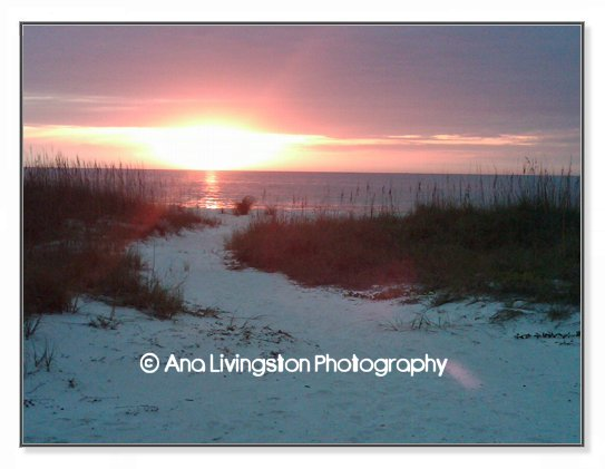 """Eldorado Sunset"", North Clearwater Beach, Florida Photography Copyright © 2014 by Ana Livingston. All Rights Reserved"