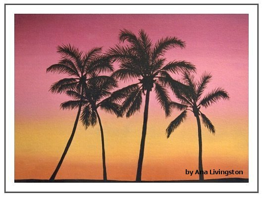 """Tropical Sunset""   24""x36"" OIL ON CANVAS, FRAMED   SOLD"