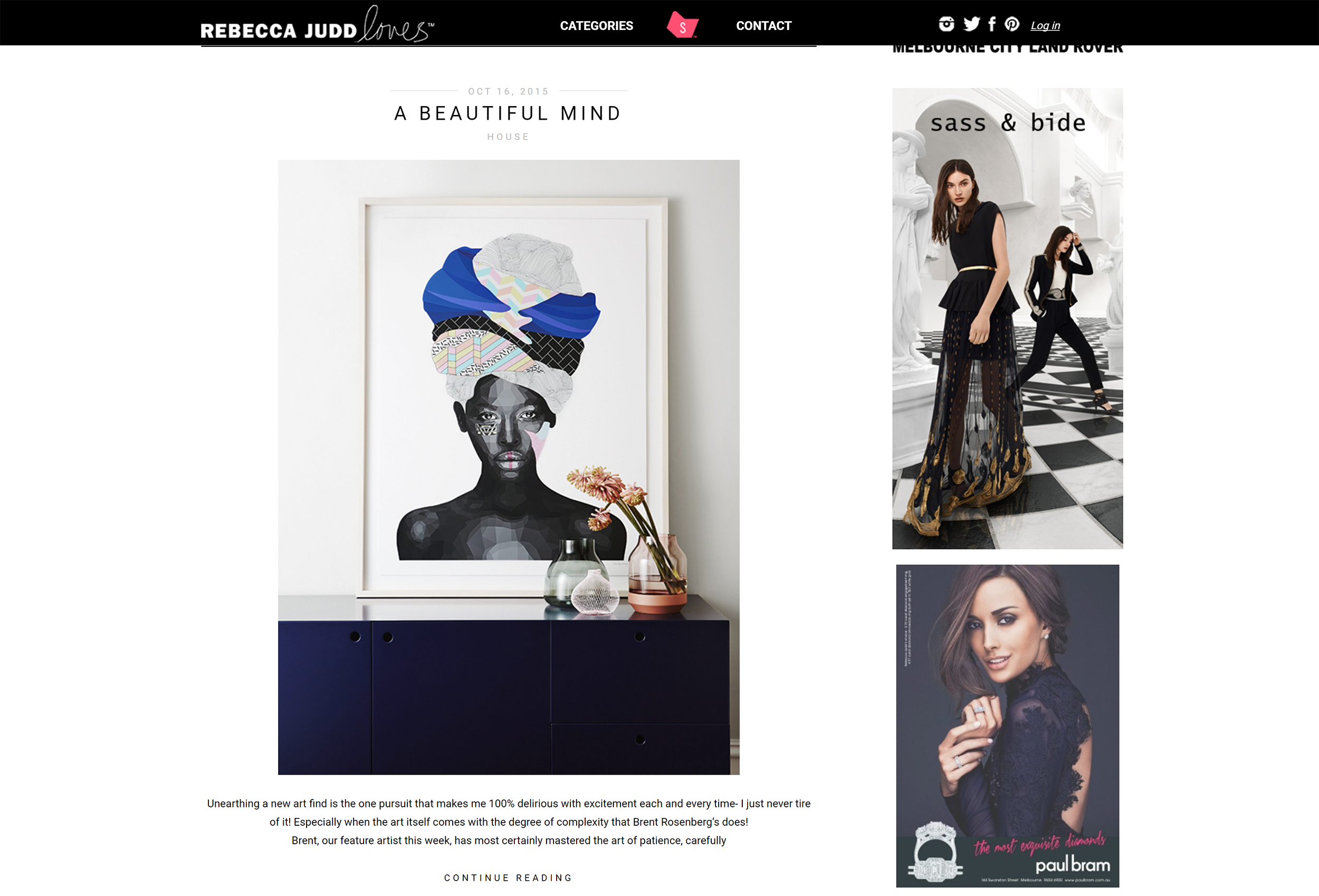 REBECCA JUDD LOVES- My first 'Miss' series was launched on Rebecca Judd Loves.
