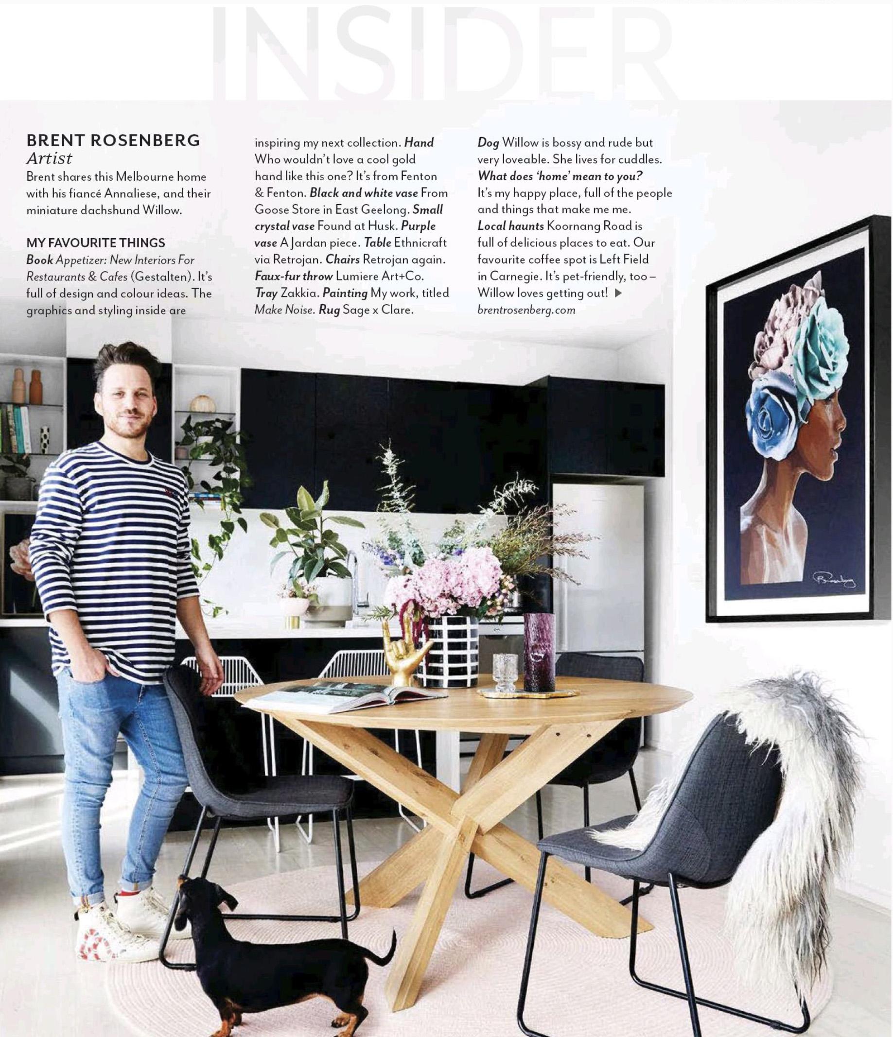 INSIDER- Australian House & Garden Magazine Spread 2018