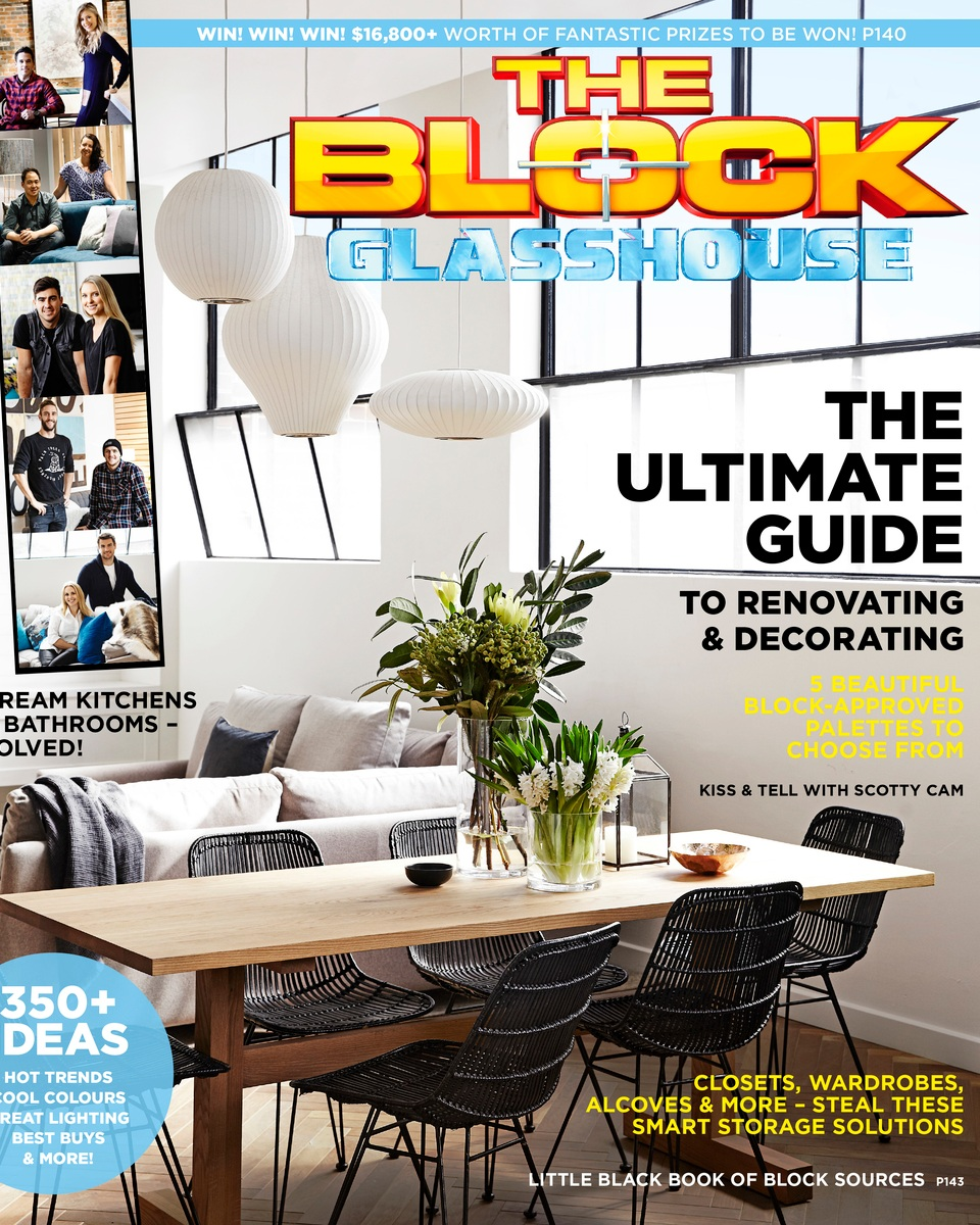 THE BLOCK GLASSHOUSE- featured in Simon & Shannons Winning Apartment & Chris & Jenna's guest bedroom
