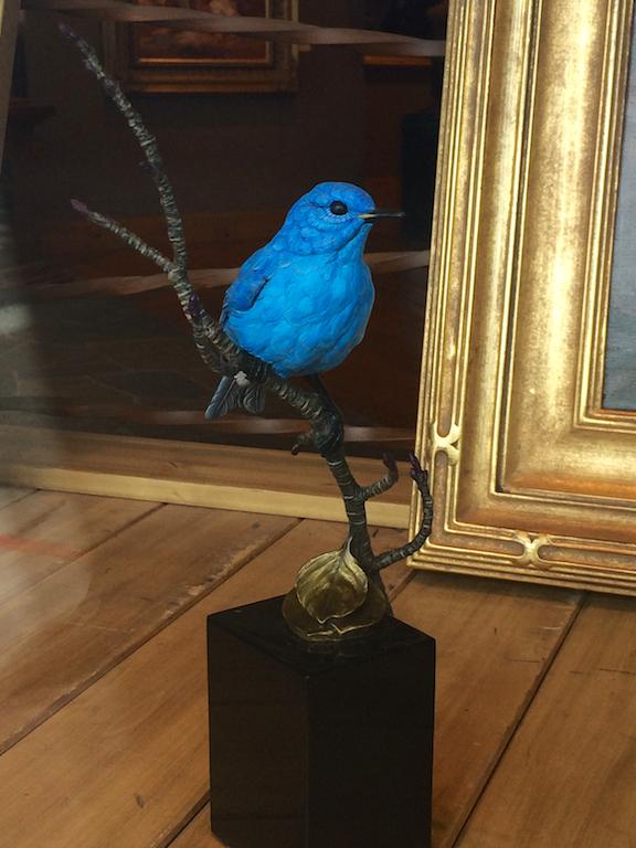 Joan Zygumunt's bronze Bluebird