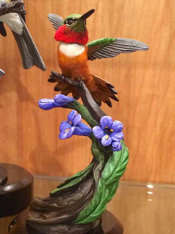 Joan Zygamunt's bronze Hummingbird