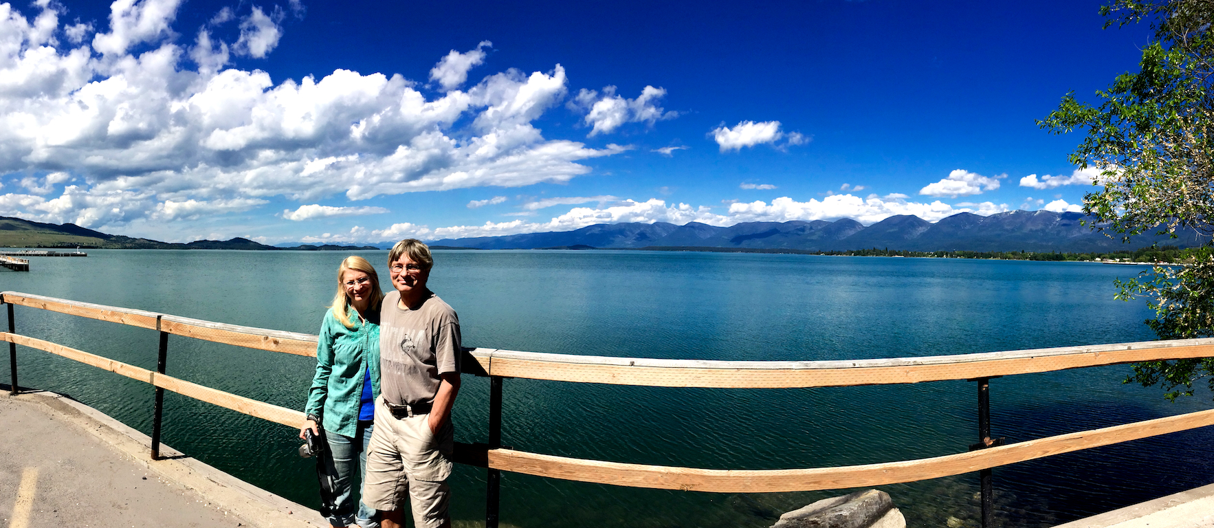 Joan and Eugene at Flathead Lake