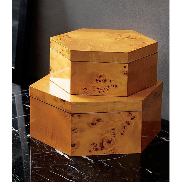 $14.99 burlwood storage box - Hide your stuff in a pretty box, ya'll.