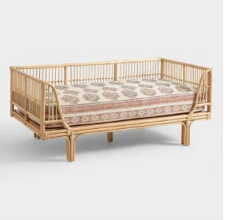 Mattress cover $89, Rattan Daybed $549.99 - Way less than a price of a sofa, this daybed packs a serious design punch.