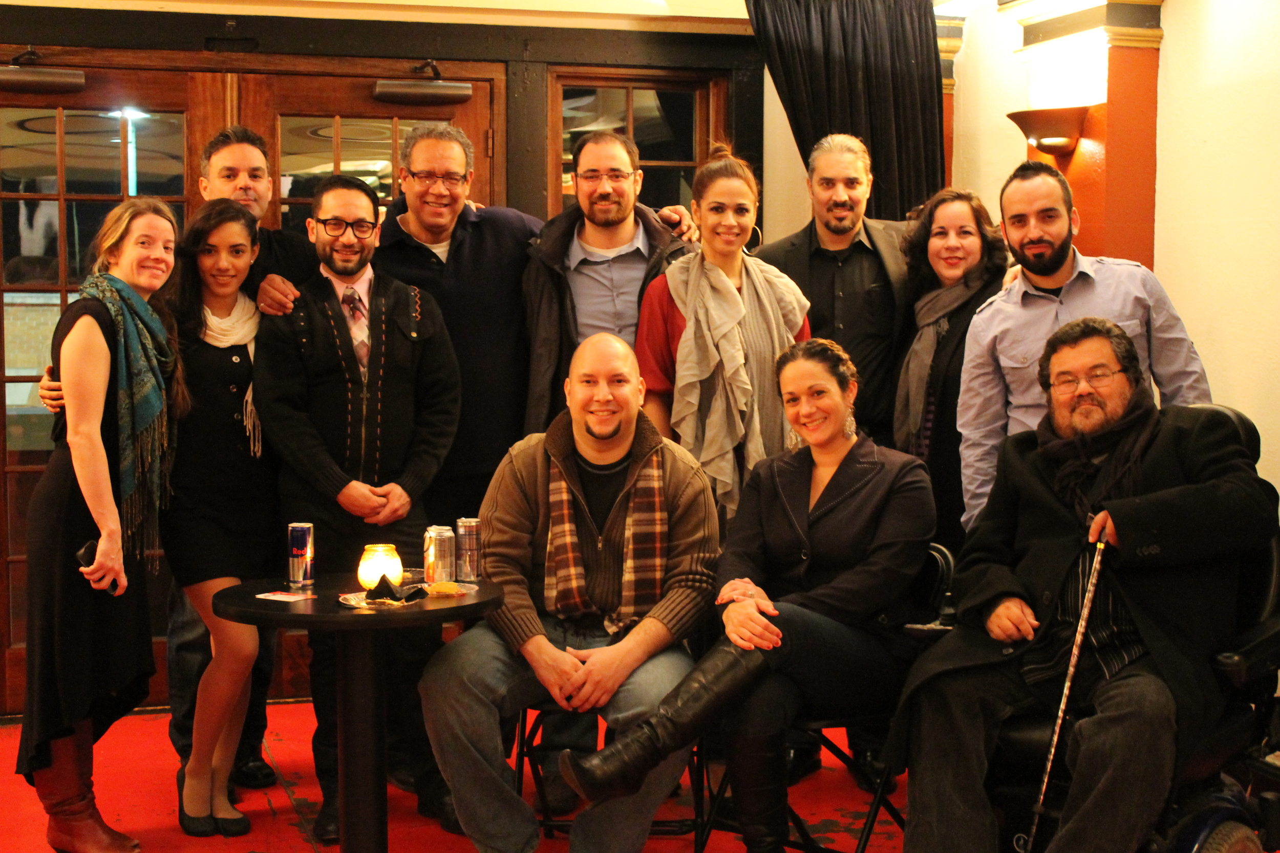 Faye with the cast of Teatro Publico de Cleveland, 2013