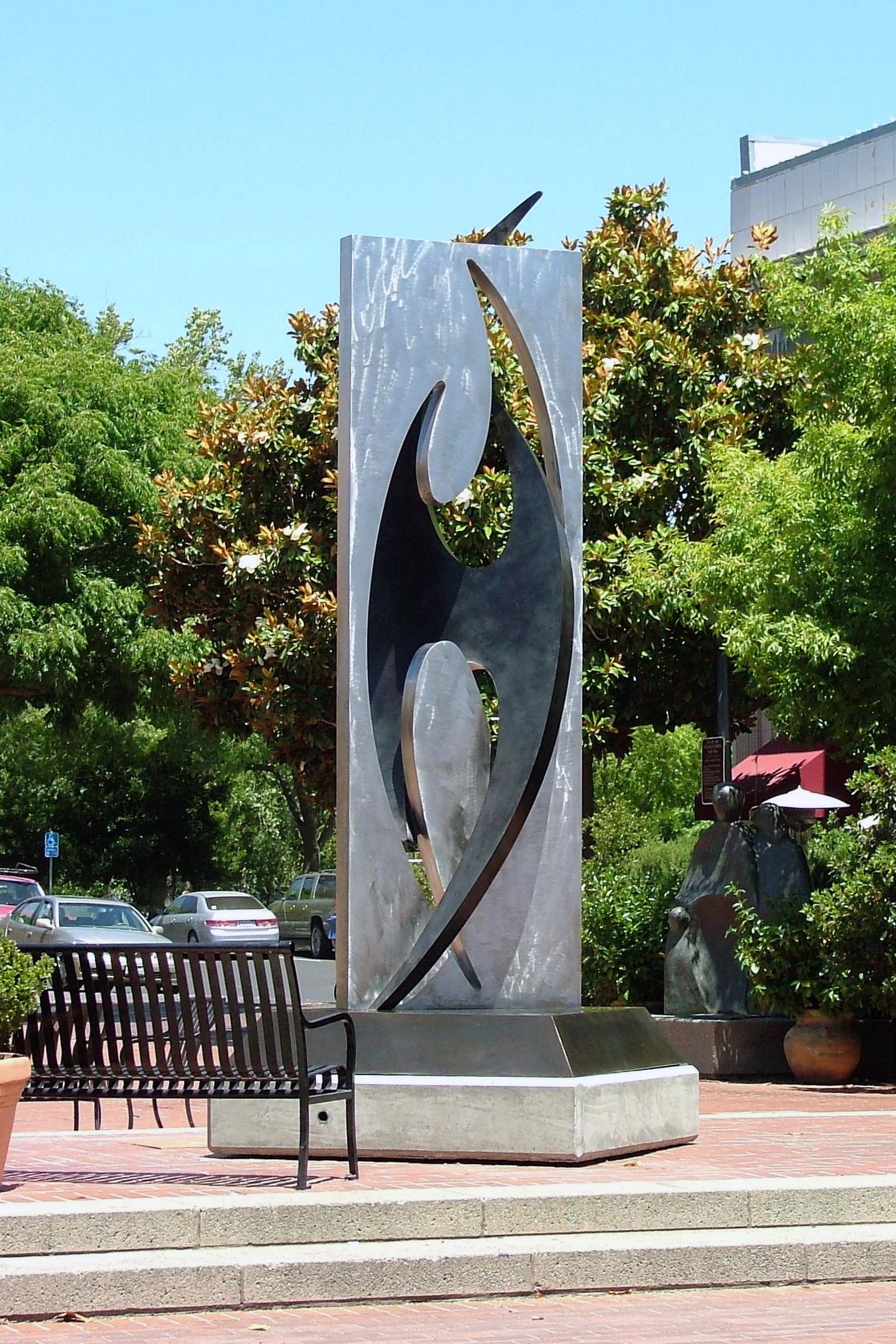 Bird, stainless steel and bronze
