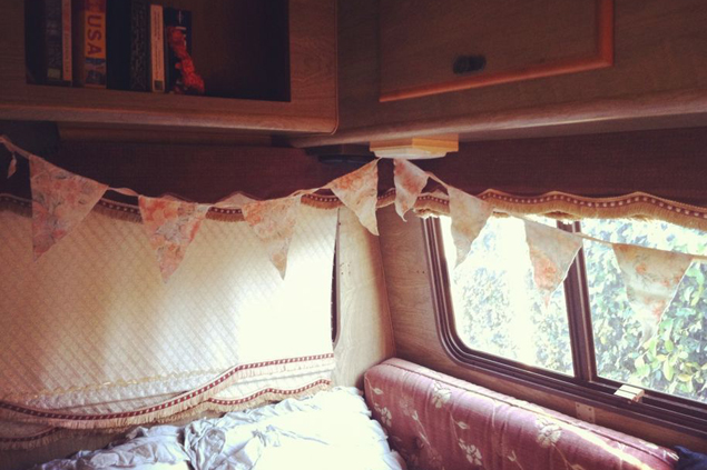 Inside of our RV.