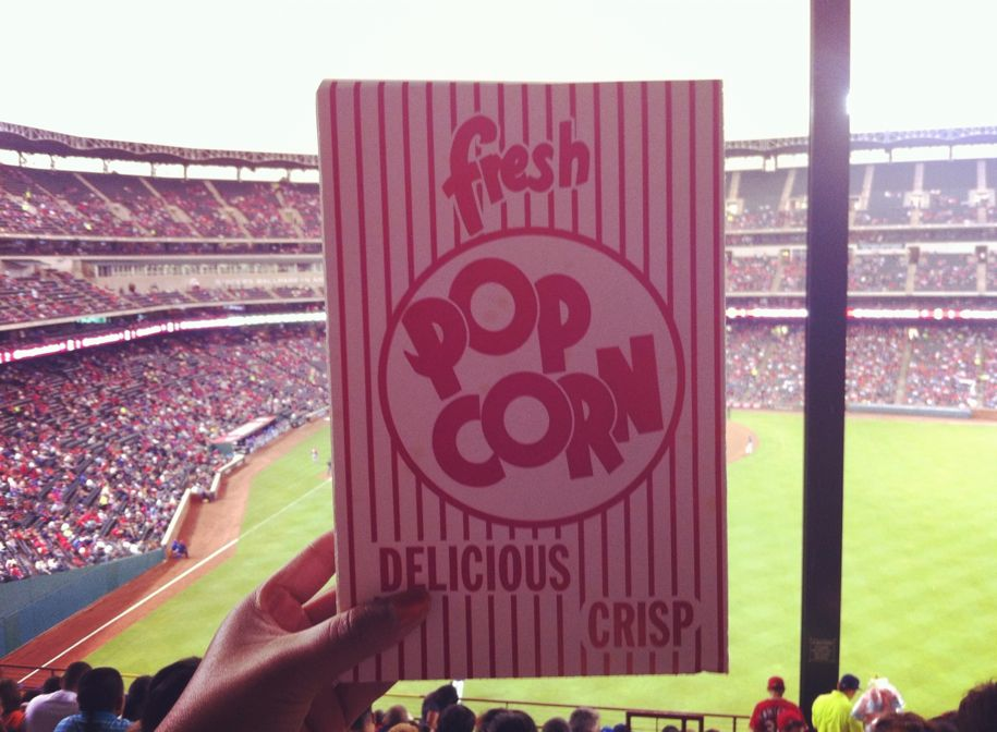 Popcorn at the ball game.