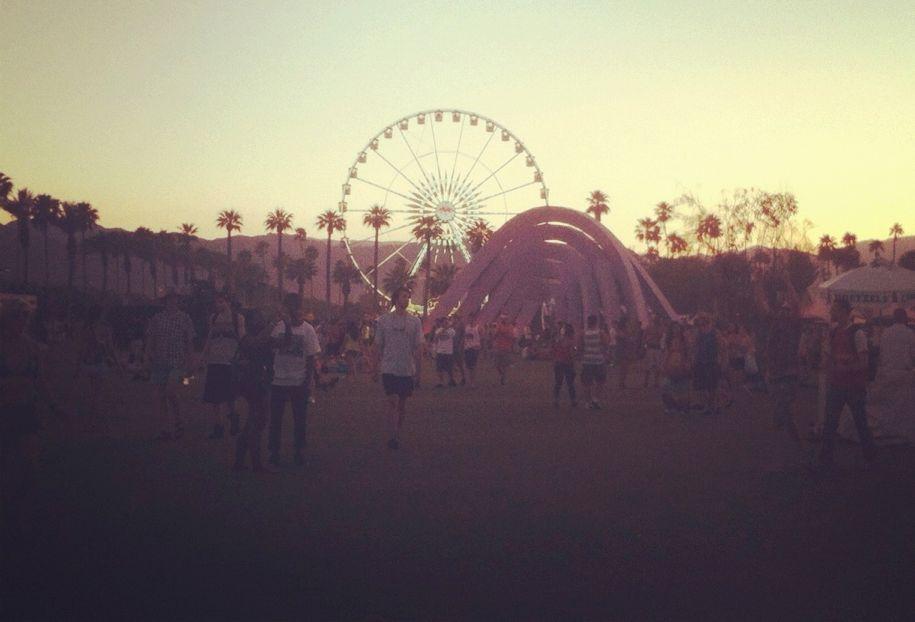 Sunset over Coachella.