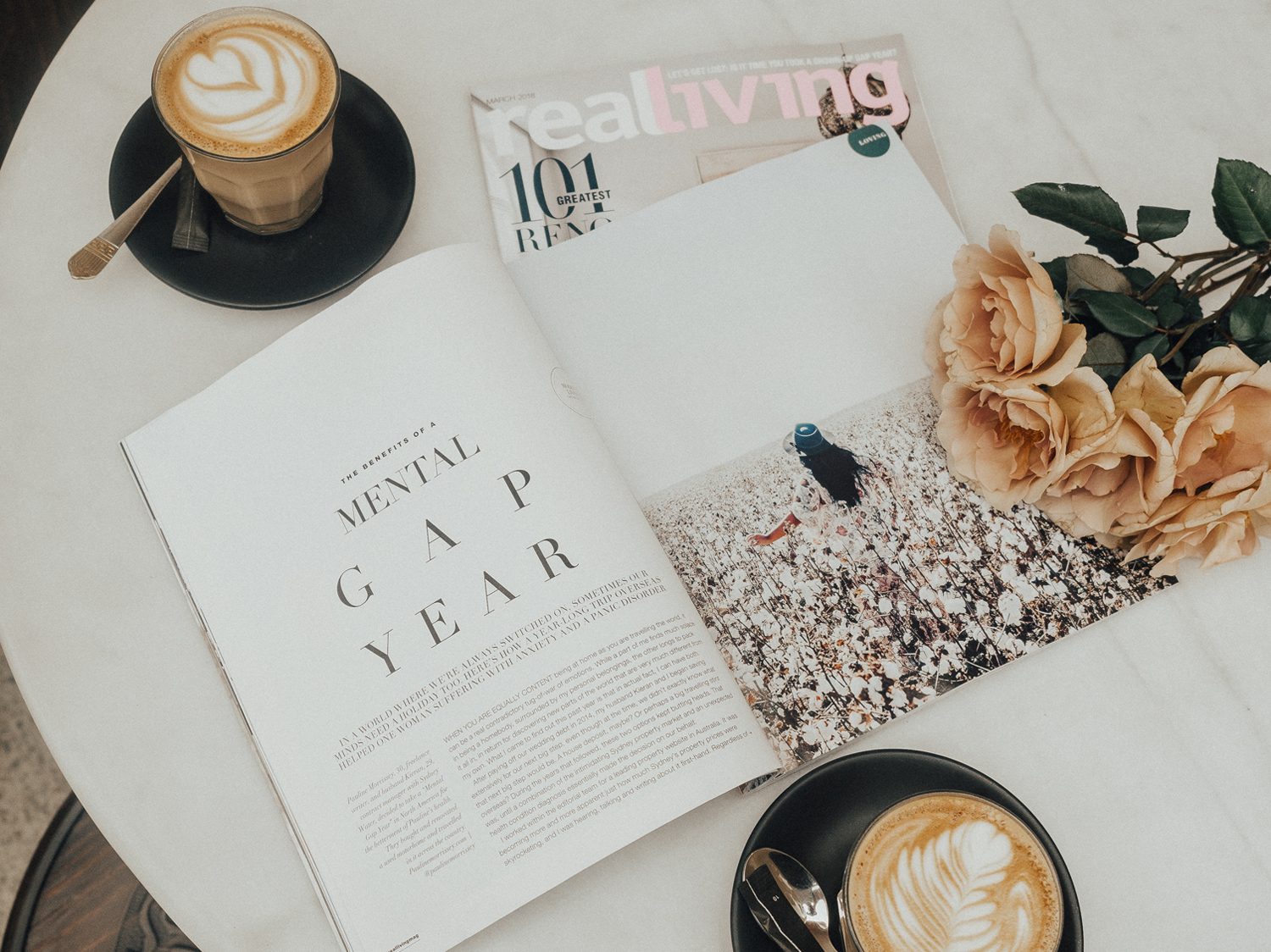 Pauline Morrissey_Sydney_Lifestyle Blogger_Real Living Magazine_Mental Gap Year_Flatlay