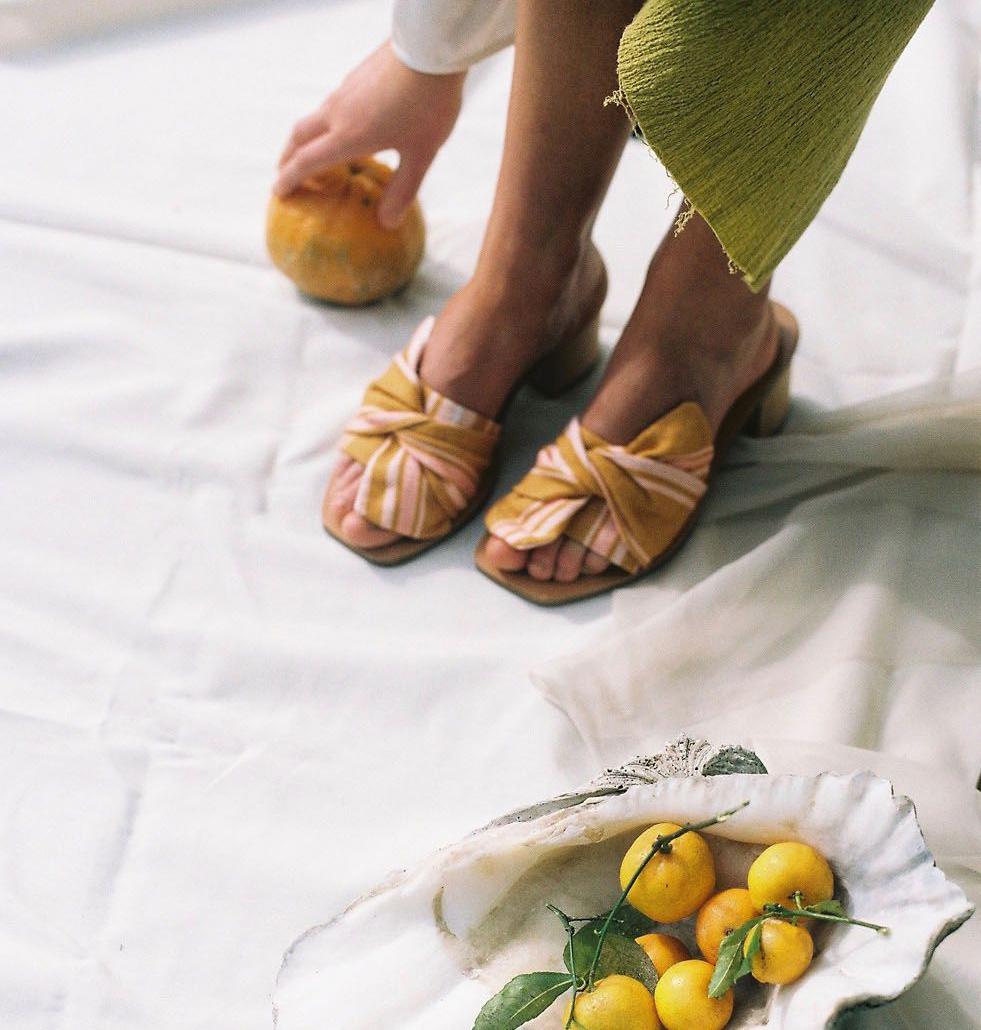Wanda Sandal Mustard - Nelson Made