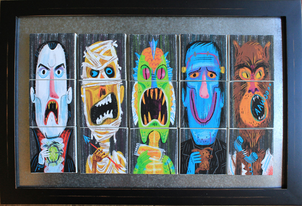 """Magnetic Monster Mixer"" Monster Squad film show (Creature Features gallery)"