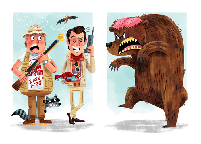 """Love for the 3rd Wheel"" / The Great Outdoors Save Ferris show (Popzilla Gallery)"