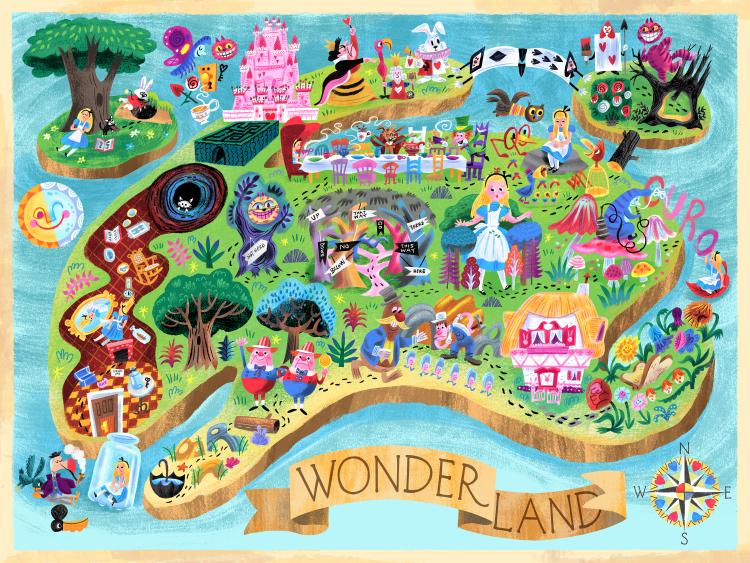 """Wonderland"" Mary Blair tribute show (Leanna Lin'S Wonderland)"