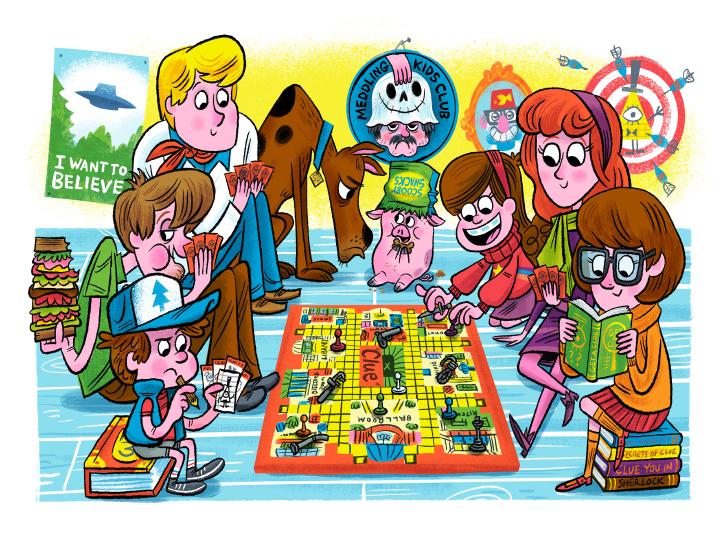 """Meddling Kids Club - Scooby Doo/Gravity Falls"" DOWNTIME (duo show w/ Glen Brogan) (Gallery 1988)"