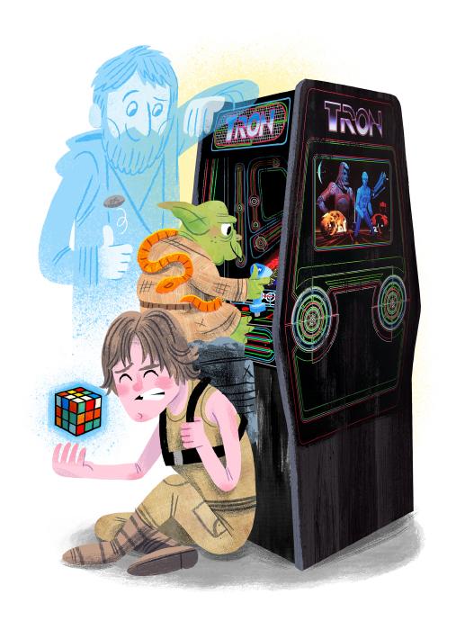 """""""Arcade Dayz - postcard set - Star Wars"""" DOWNTIME (duo show w/ Glen Brogan) (Gallery 1988)"""