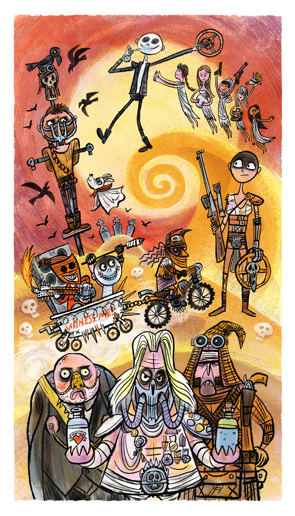 """The Lovely Day Before Valhala"" Mad Max tribute show (Creature Feature gallery)"