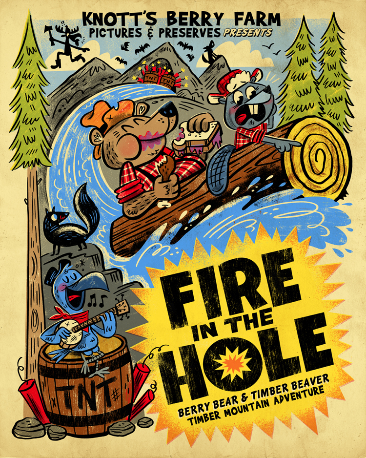 """Fire in the Hole"" Boysenberry Festival show (Knott's Berry Farm)"