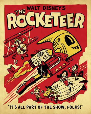 """The Rocketeer"" Rocketeer tribute show (Creature Feature gallery)"