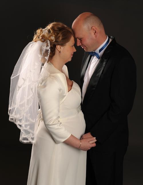 bröllopsporträtt studio FotoAnna Trosa