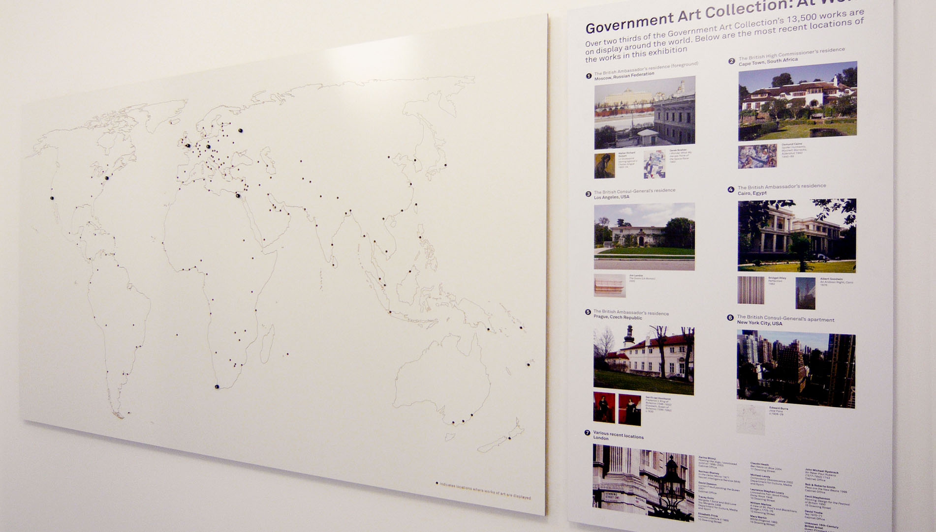Govenment Art Collection, CNC engraved Map of Works