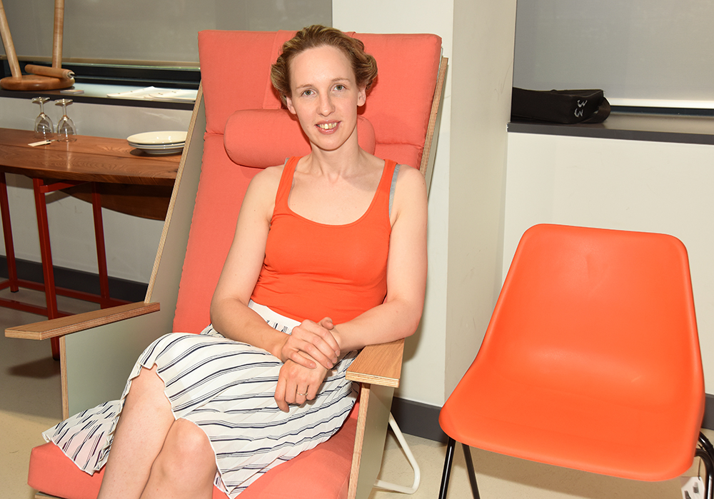 Photo credit: Dean Valler. Bucks New University Furniture student Madara Degtere