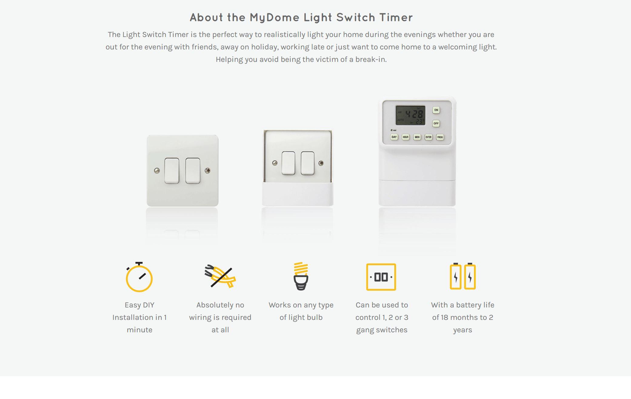 MyDome Light Switch Timer