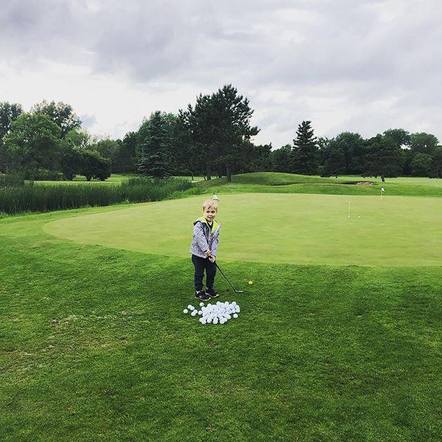 First golf lesson tonight for my little future PGA star :) #pga #kidsgolf #firstgolflesson