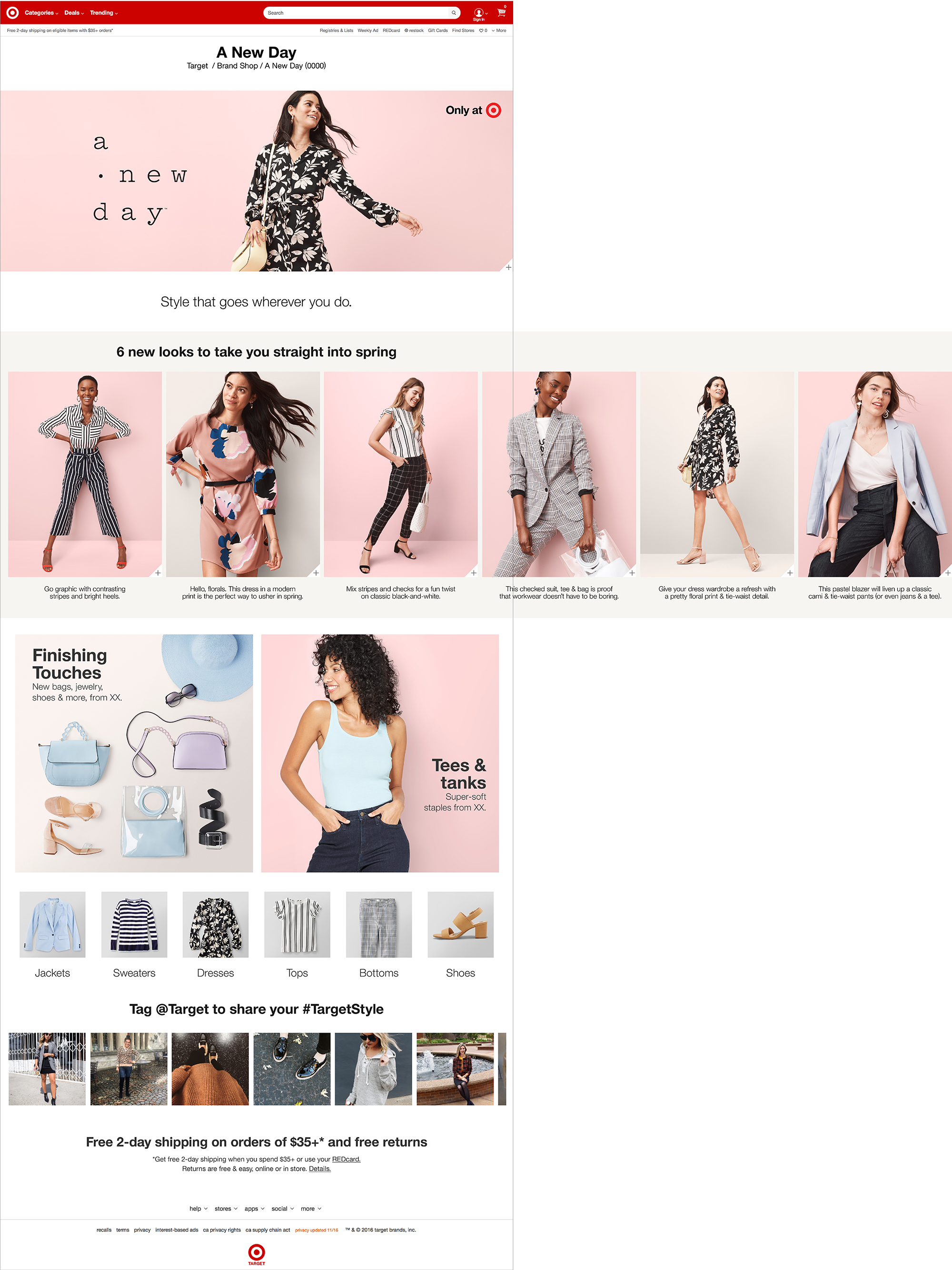 Target A New Day Brand Page