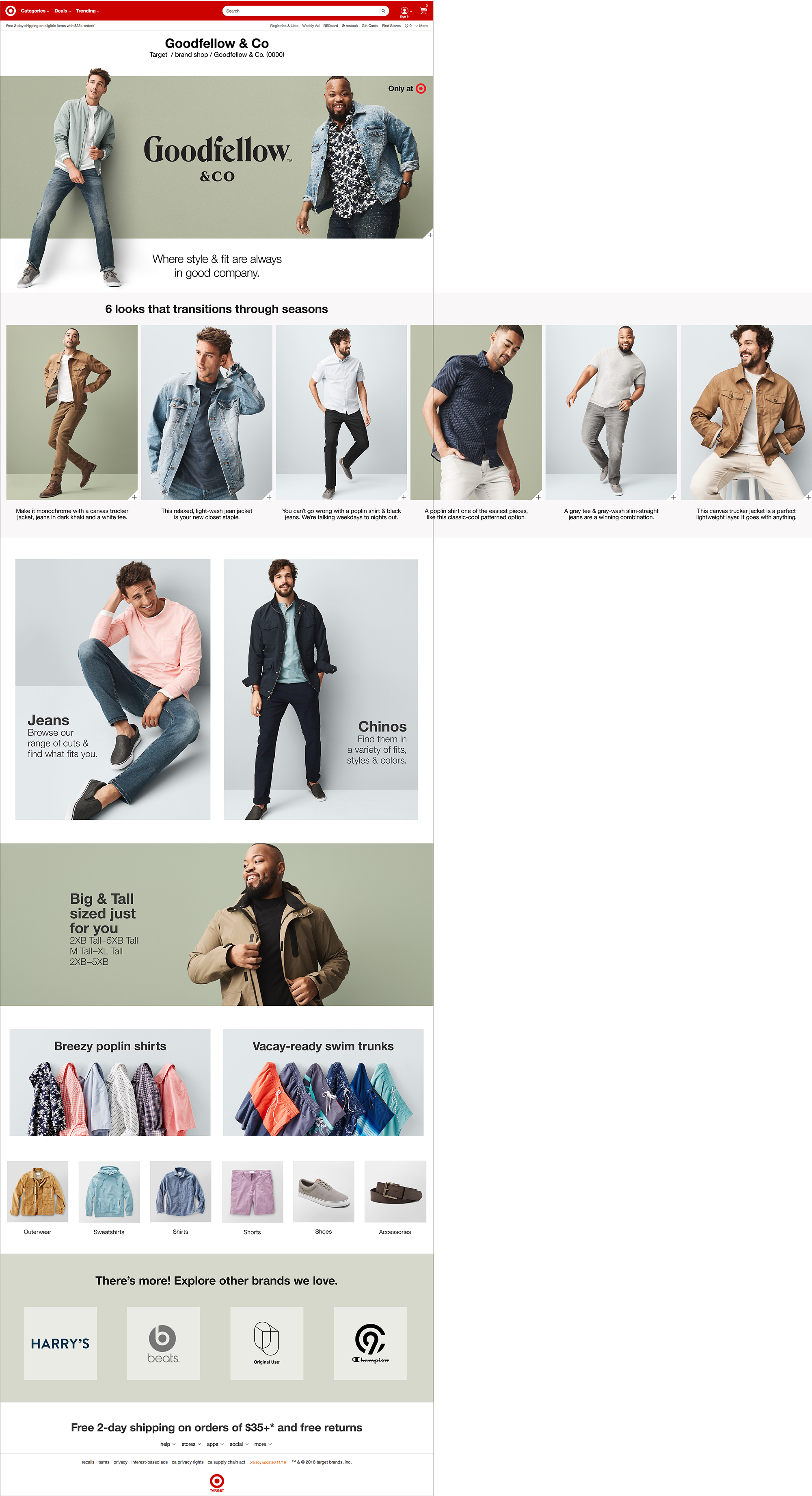 Target Goodfellow Brand Page