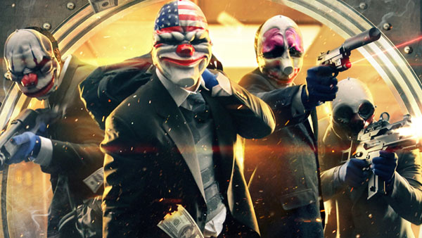 Nobody robbed a bank themselves - not even The Joker. Photo: Overkill Software